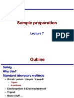Transmission Electron Microscopy Skills:Sample preparation Lecture 7