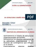 7 SESION - Organización (Estructuras y Diseño Organizacional)