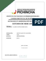CLASIFICACION DE MERCADOS IVAN APUNTE