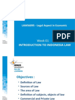 20180502164356_PPT01-LAWS6095 LEGAL ASPEC IN ECONOMIC-INTRODUCTION TO INDONESIA LAWS