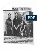 Peoples Journal, Mar. 12, 2020, Yedda Welcome Leyte Local Execs Tingog Party-list Rep. Yedda Marie K. Romualdez.pdf