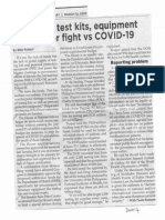 Philippine Star, Mar. 12, 2020, Lack of test kits equipment hamper fight vs COVID-19.pdf