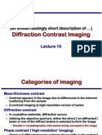Transmission Electron Microscopy Skills:Diffraction Contrast Imaging Lecture 10