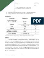 Expt 10 - Monostable-Multivibrator