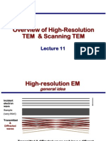 Transmission Electron Microscopy Skills:Overview of High-Resolution TEM & Scanning TEM Lecture 11