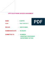 OPTO ELECTRONIC DEVICES ASSIGNMENT