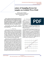 Spectral Feature of Sampling Errors for Directional Samples on Gridded Wave Field