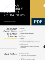 Regular allowable itemized deductions