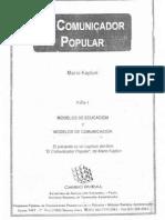 El Comunicador Popular. Mario Kaplun
