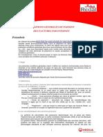 V1ConditionsGénéralesPaiementparcartebancaireviaInternet