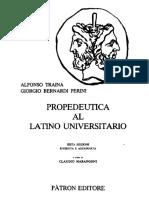 Alfonso Traina Giorgio Bernardi Perini - Propedeutica Al Latino Universitario_1998
