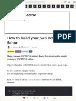 How to build your own WYSIWYG Editor - DEV Community ?_??_?