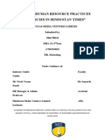 STUDY ON HUMAN RESOURCE PRACTICES AND POLICIES IN HINDUSTAN TIMES.docx