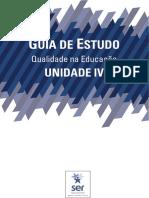 Guia de Estudos da Unidade 4 - Qualidade na Educação
