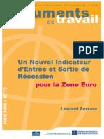 Ferrara Indicateur entrée sortie en récession zone euro 2006