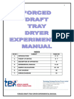 Force Draft Tray Dryer Experimental Manual
