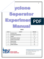 Cyclone Seperator  Experimental Manual