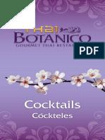 Thai Botanico Cocktail and Dessert Menu
