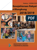 Indikator Kesejahteraan Rakyat Kabupaten Klungkung 2018_2019