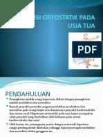 Hipotensi Ortostatik Pada Usia Tua