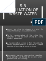 Evaluation of waste water