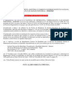 Portaria INMETRO 005 05.01.11 RTQ - Grifada com Portaria 412