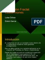 Dimensión Fractal Cuaterniones