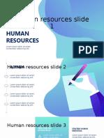 Human resources slide 1