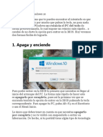 Acceder a BIOS Windows 10