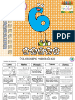 6° ACTIVIDADES MATEMATICAS DE MARZO