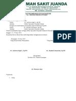 Surat no.013 pelimpahan tugas dokter spesialis