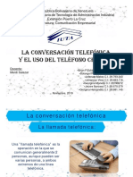 La conversacion telefonica y el uso del telefono celular