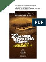 Programa II Coloquio de Historia Regional