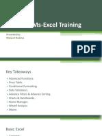 Advance Ms-Excel Training PDF