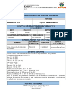 RENDICION CUENTAS II SEMESTRE 2019