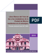 Libro Blanco del Voto en el Extranjero CDMX 2018