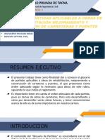 GLOSARIO DE PARTIDAS EN CARRETERAS