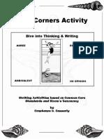 FirstDayWritingActivityFourCorners