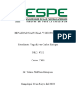 Análisis de la seguridad interna y externa del Ecuador (Carlos Vega)
