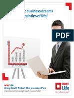 MC0620179970 HDFC Life Group Credit Protect Plus