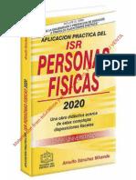 APLICACIÓN PRÁCTICA DEL ISR PERSONAS FISICAS 2020