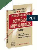 CASOS PRACTICOS DEL ISR PARA PERSONAS FISICAS CON ACTIVIDADES EM