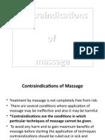 contraindications of massage