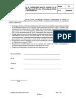 Formato N018-2018-INACAL-SGSI Compromiso de Confidencialidad para los miembros de los Comités Técnicos y Sub Comités Técnicos de la Dirección de Norm