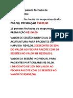 VALORES E PREMIAÇÃO DE PACOTES DE ACUPUNTURA.docx