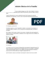 Las 10 Necesidades Básicas de la Familia