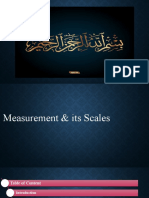 Measurement and its scale