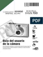 Guia Usuario Power Shot SD500-ES Desprot