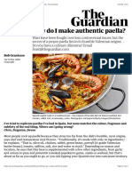 How do I make authentic paella? | Kitchen Aide | Food | The Guardian