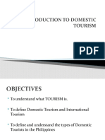INTRO TO DOMESTIC TOURISM